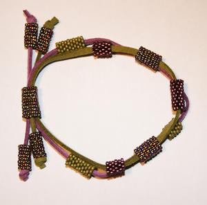 Mocka lila/oliv